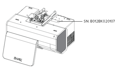 Determining the serial number of a SMART projector