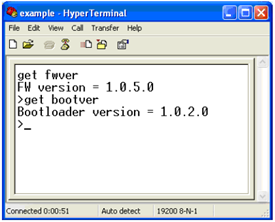 Using HyperTerminal to Determine Extended Control Panel